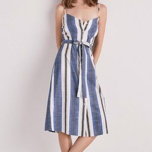 NWT Lucky Brand striped button front dress, XL